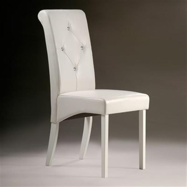 Warehouse of Tiffany Parsons 38-in White Dining Chairs (Set of 2)