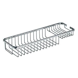 WS Bath Collections 2.4-in Chrome H Screw Mount Shower Basket