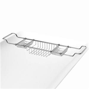 WS Bath Collections Polished Chrome Solid Brass Bathtub Caddy