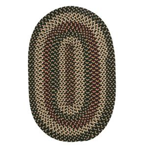 Colonial Mills Brook Farm 7-ft x 9-ft Winter Green Oval Indoor/Outdoor Handcrafted Area Rug