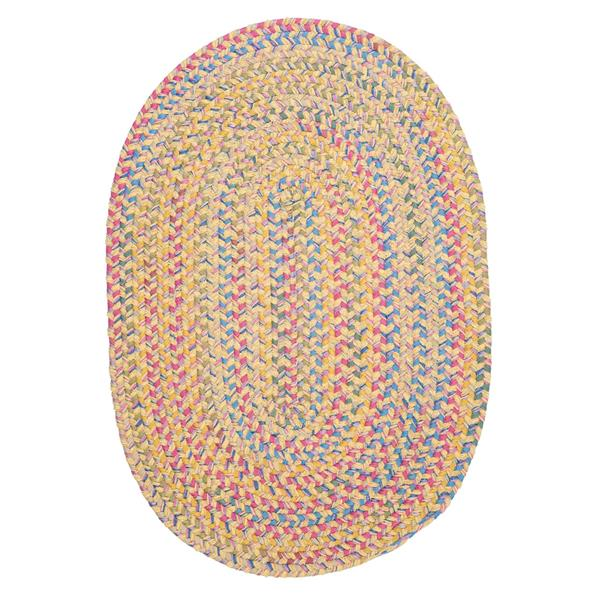 Colonial Mills Botanical Isle 8-ft x 11-ft Banana Oval Area Rug