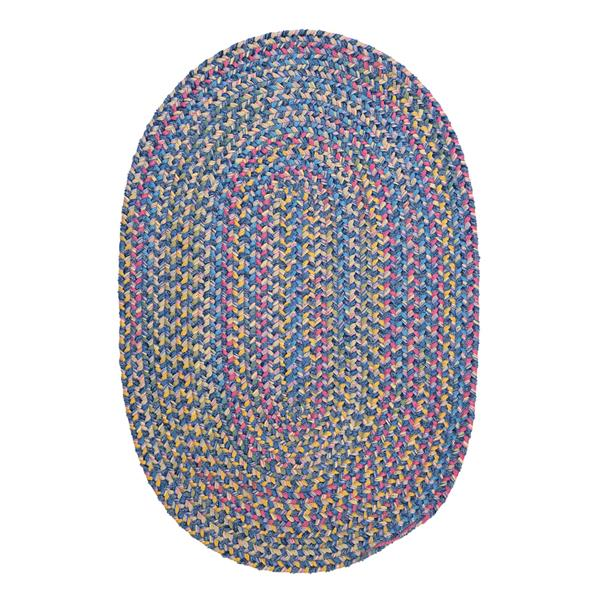 Colonial Mills Botanical Isle 4-ft x 6-ft Oasis Blue Oval Area Rug