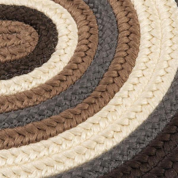 Colonial Mills Brooklyn 3-ft x 5-ft Brownstone Oval Indoor/Outdoor Handcrafted Throw Rug
