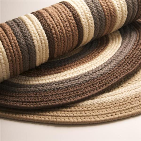 Colonial Mills Brooklyn 5-ft x 8-ft Brownstone Oval Indoor/Outdoor Handcrafted Area Rug