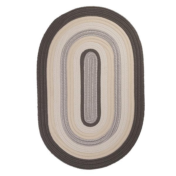 Colonial Mills Brooklyn 7-ft x 9-ft Slate Oval Indoor/Outdoor Handcrafted Area Rug