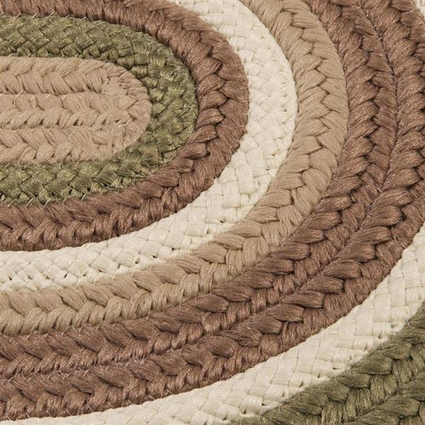 Colonial Mills Brooklyn 4-ft x 4-ft Moss Round Indoor/Outdoor Handcrafted Area Rug
