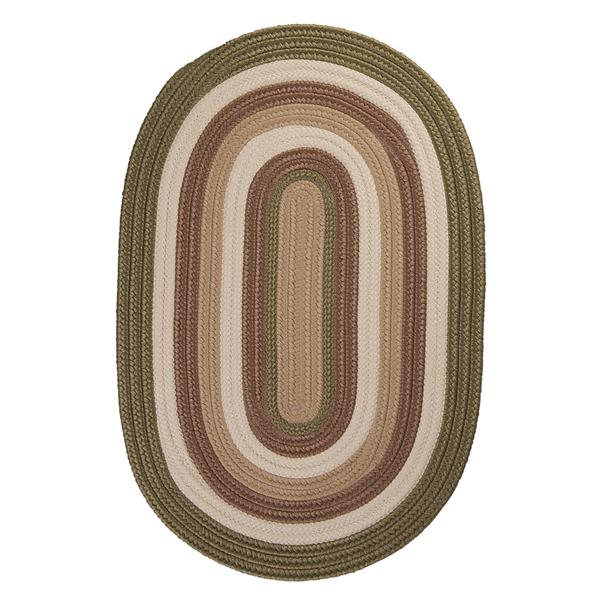 Colonial Mills Brooklyn 4-ft x 6-ft Moss Oval Indoor/Outdoor Handcrafted Area Rug