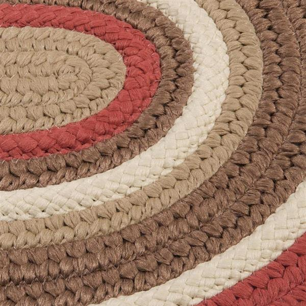 Colonial Mills Brooklyn 4-ft x 6-ft Terracotta Oval Indoor/Outdoor Handcrafted Area Rug