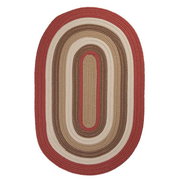 Colonial Mills Brooklyn 7-ft x 9-ft Terracotta Oval Indoor/Outdoor Handcrafted Area Rug