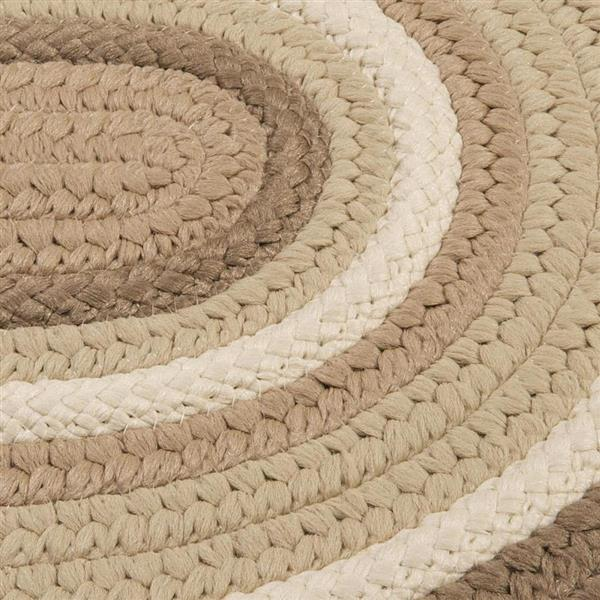 Colonial Mills Brooklyn 2-ft x 10-ft Natural Oval Indoor/Outdoor Handcrafted Runner