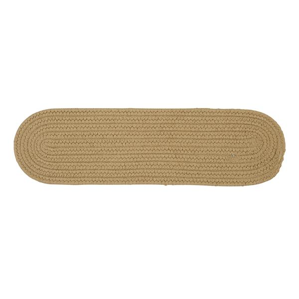 Colonial Mills Boca Raton 8-in x 28-in Oval Cuban Sand Stair Tread Mat