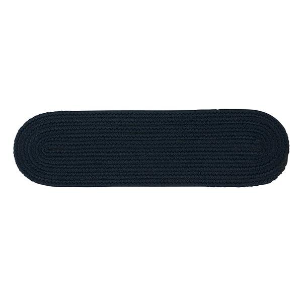 Colonial Mills Boca Raton 8-in x 28-in Oval Navy Stair Tread Mat - 13/pack