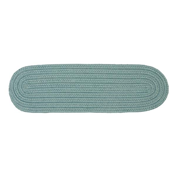 Colonial Mills Boca Raton 8-in x 28-in Oval Federal Blue Stair Tread Mat