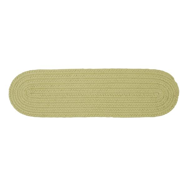 Colonial Mills Boca Raton 8-in x 28-in Oval Celery Stair Tread Mat