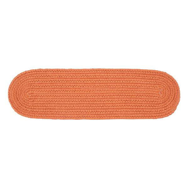 Colonial Mills Boca Raton 8-in x 28-in Oval Rust Stair Tread Mat