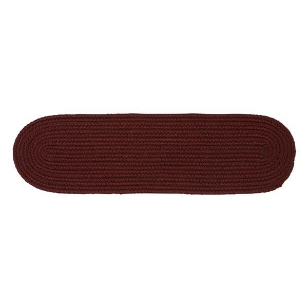 Colonial Mills Boca Raton Red 8-in x 28-in Oval Stair Tread Mat