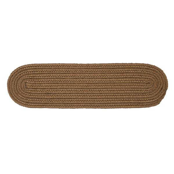 Colonial Mills Boca Raton 8-in x 28-in Oval Cashew Stair Tread Mat