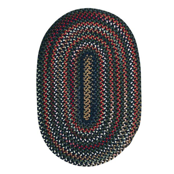 Colonial Mills Chestnut Knoll 5-ft x 8-ft Handcrafted Baltic Blue Oval Area Rug