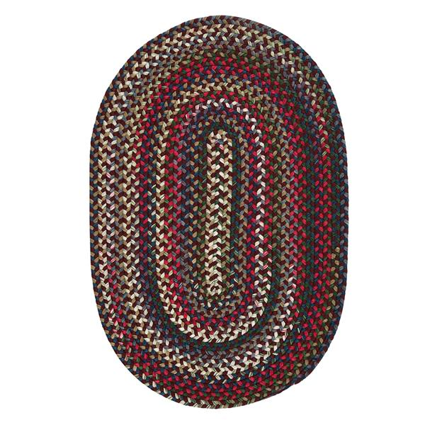 Colonial Mills Chestnut Knoll 4-ft x 6-ft Handcrafted Amber Rose Oval Area Rug