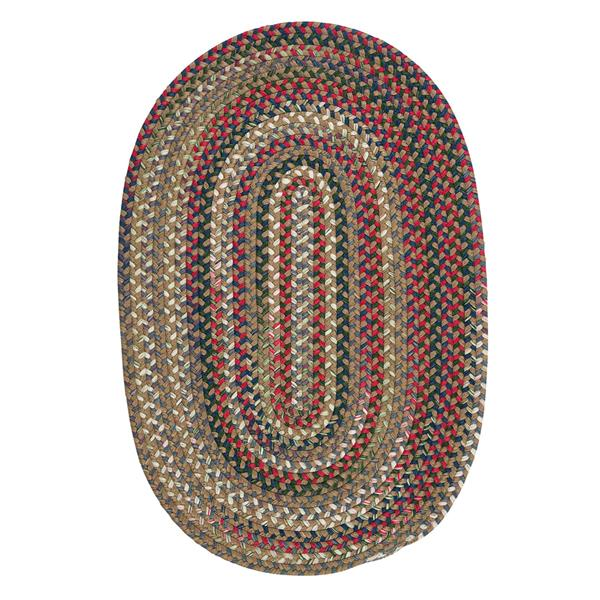 Colonial Mills Chestnut Knoll 5-ft x 8-ft Handcrafted Straw Beige Oval Indoor Area Rug