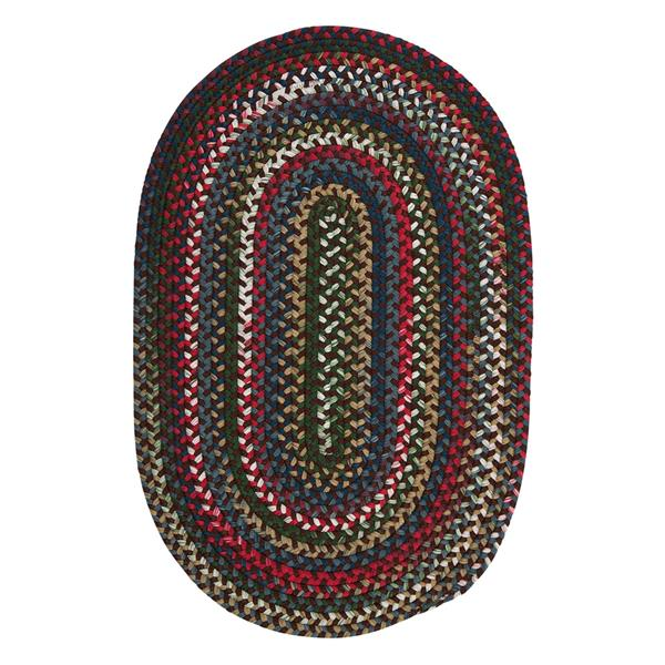 Colonial Mills Chestnut Knoll 4-ft x 6-ft Handcrafted Saddle Brown Oval Indoor Area Rug