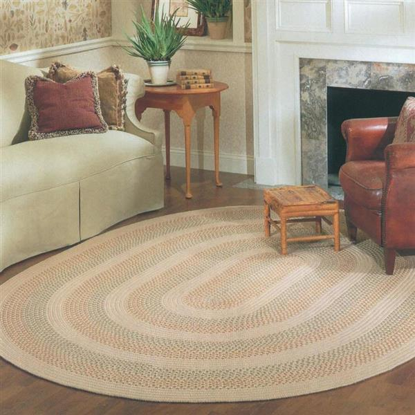 Colonial Mills Georgetown 7-ft x 9-ft Beige Oval Indoor/Outdoor Area Rug