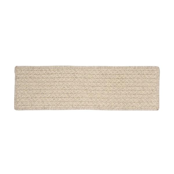 Colonial Mills Natural Wood Houndstooth 8-in x 28-in Cream Rectangular Stair Tread Mat