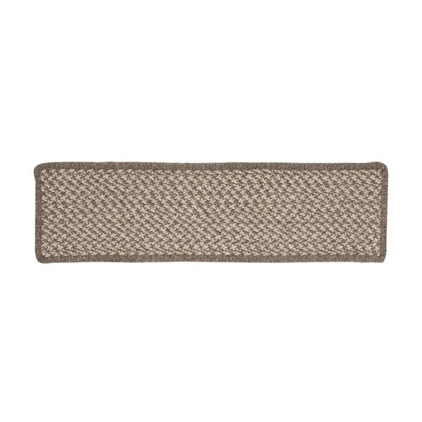 Colonial Mills Natural Wood Houndstooth 8-in x 28-in Latte Rectangular Stair Tread Mat
