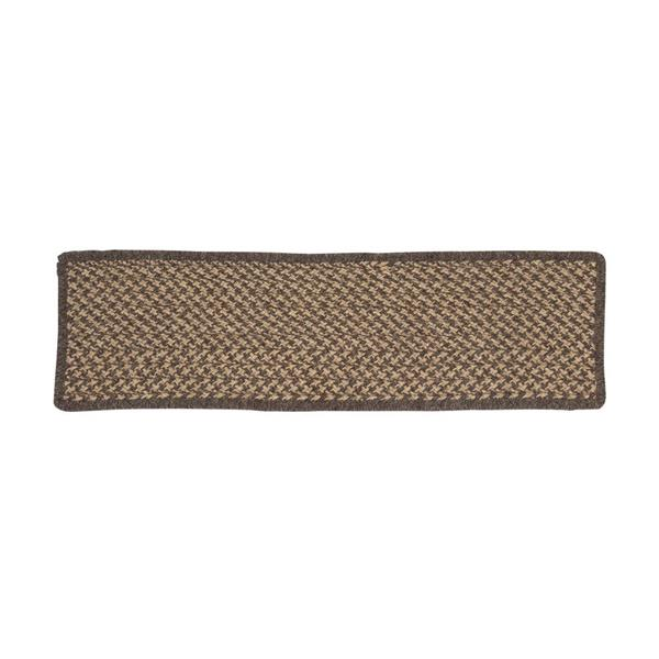 Colonial Mills Natural Wood Houndstooth 8-in x 28-in Carmel Rectangular Stair Tread Mat