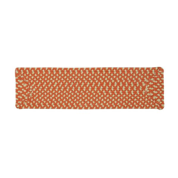 Colonial Mills Montego 8-in x 28-in Tangerine Rectangular Stair Tread Mat