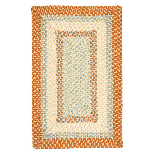 Colonial Mills Montego 5-ft x 8-ft Tangerine Indoor/Outdoor Handcrafted Area Rug