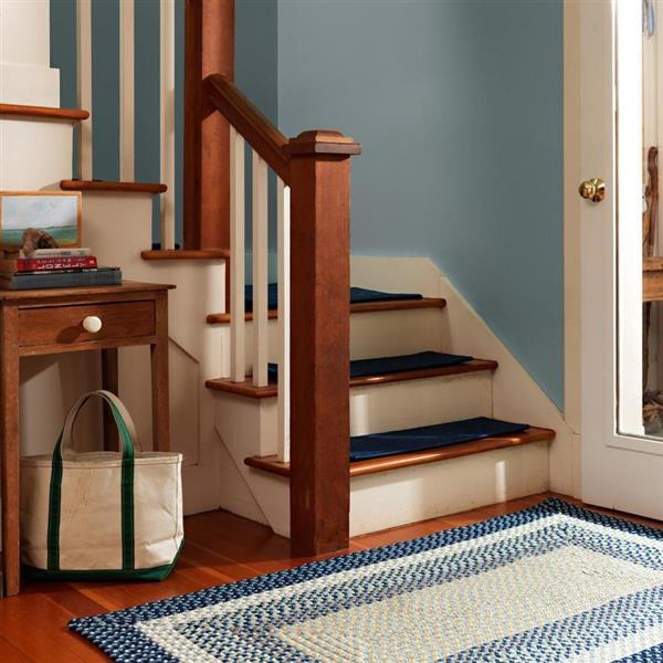 Colonial Mills Mentrgo 4-ft x 4-ft Blue Burst Indoor/Outdoor Handcrafted Area Rug