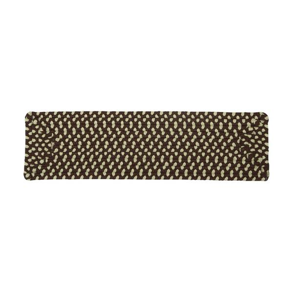 Colonial Mills Montego 8-in x 28-in Bright Brown Rectangular Stair Tread Mat
