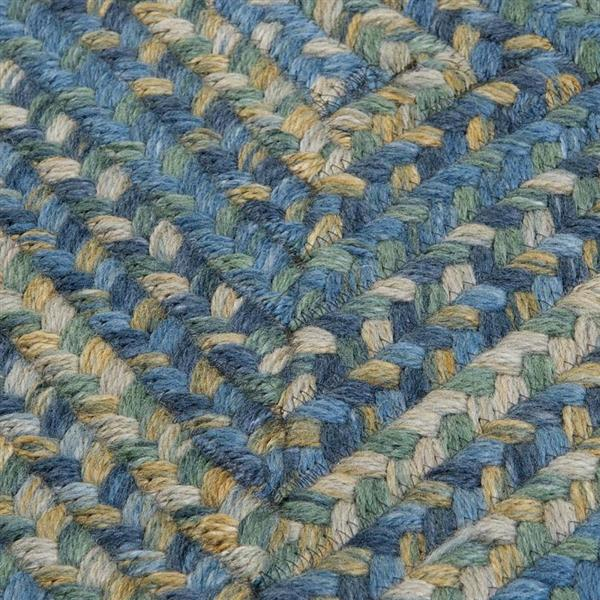Colonial Mills Ridgevale 2-ft x 6-ft Handcrafted Whipple Blue Indoor Runner