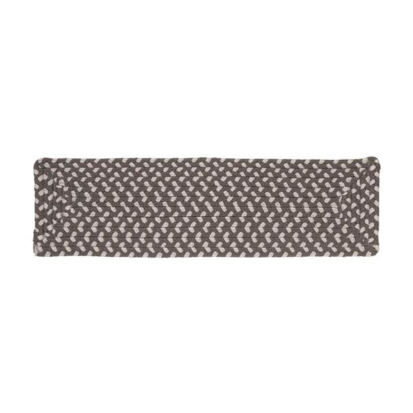 Colonial Mills Tiburon 8-in x 28-in Misted Gray Rectanglular Stair Tread Mat