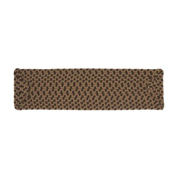 Colonial Mills Tiburon 8-in x 28-in Spruce Green  Rectanglular Stair Tread Mat
