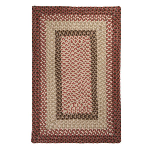 Colonial Mills Tiburon 6-ft x 6-ft Square Indoor/Outdoor Rusted Rose Area Rug