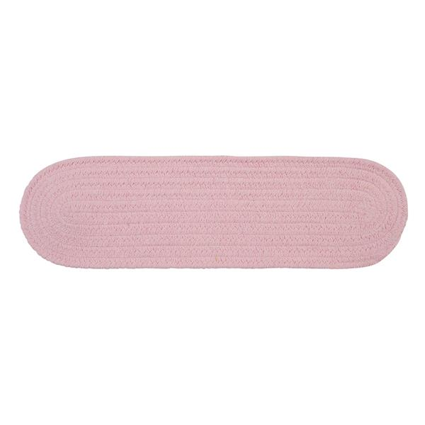 Colonial Mills Bristol 8-in x 28-in Blush Pink Oval Stair Tread Mat