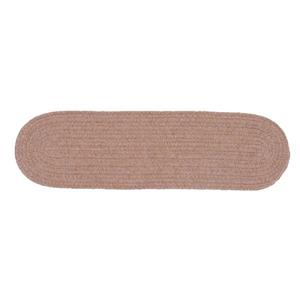 Colonial Mills Bristol 8-in x 28-in Mocha Oval Stair Tread Mat - 13/pack
