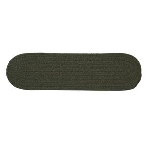 Colonial Mills Bristol 8-in x 28-in Olive Oval Stair Tread Mat - 13/pack