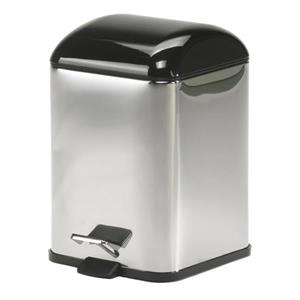WS Bath Collections Complements II 12 Liter Stainless Steel Indoor Trash Can with Lid