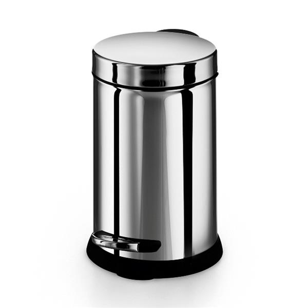 WS Bath Collections Otel 3 Liter Stainless Steel Indoor Trash Can with Lid