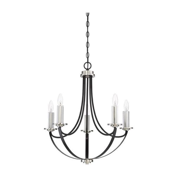 Quoizel Alana 5-Light Western Bronze Modern/Contemporary Candle Chandelier