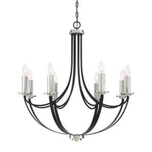 Quoizel Alana 8-Light Imperial Bronze Modern/Contemporary Candle Chandelier