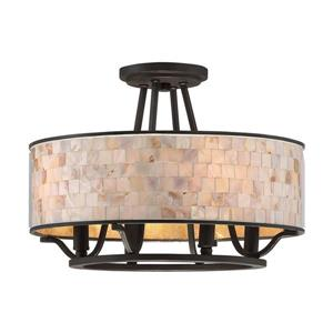 Quoizel Aristocrat 4-Light Bronze 15-in x 15-in x 11.5-in Semi-Flush Mount