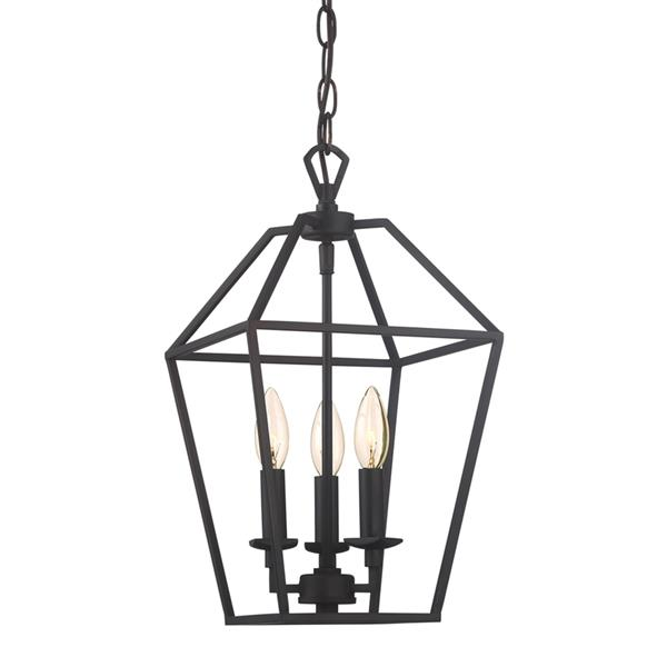 Quoizel Aviary 9.5-in Brushed Nickel Traditional Cage Style 3-Light Pendant Lighting