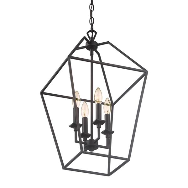 Quoizel Aviary 13-in Darkest Bronze Traditional Cage Style Pendant Lighting