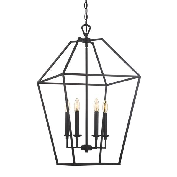 Quoizel Aviary 20-in Western Bronze Traditional Cage Style Pendant Lighting