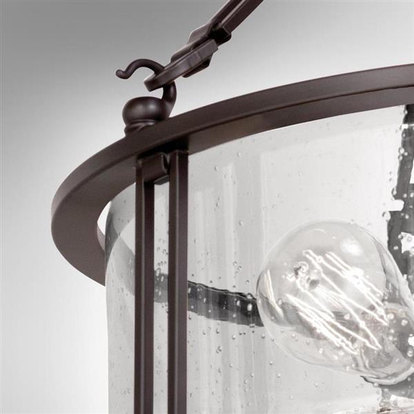 Quoizel Buchanan 3-Light Bronze 16-in x 16-in x 14-in Semi-Flush Mount
