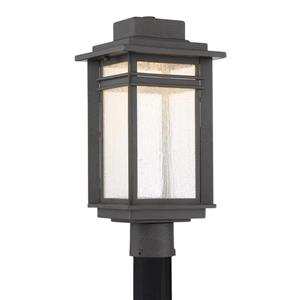 Quoizel Beacon 18-in Stone Black LED Post Light